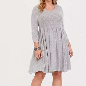 Grey Hacci skater dress